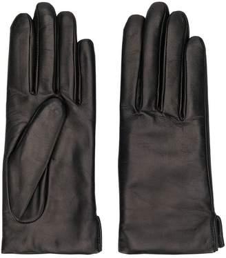 Agnelle plain leather gloves