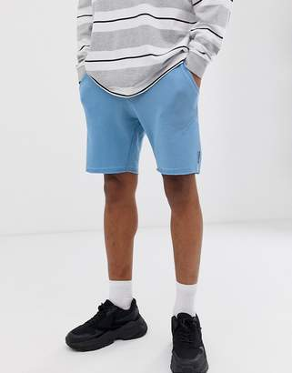 Bershka jogger shorts in light blue