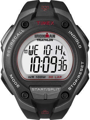 Timex Ironman Mens Black Resin Strap 30-Lap Watch T5K4179J