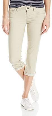 YMI Jeanswear Women's Wannabettabutt Twill Single Button Flood