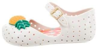 Mini Melissa Girls' Embellished Mary Jane Flats