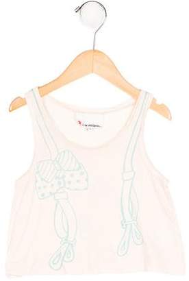 3.1 Phillip Lim Girls' Suspender Print Sleeveless Top