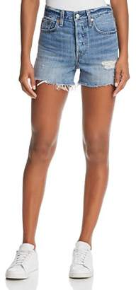 Levi's Wedgie Denim Shorts in Blue Your Mind