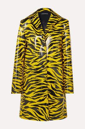 Kwaidan Editions Tiger-print Pu Coat - Yellow