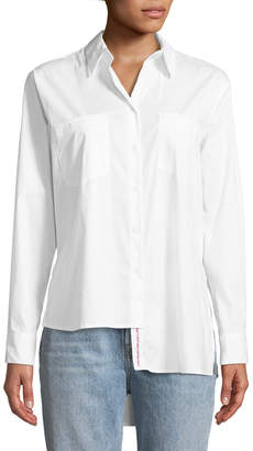 KENDALL + KYLIE Asymmetric Button-Front Blouse