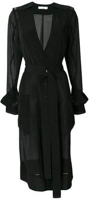 Victoria Beckham sheer belted coat