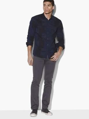 John Varvatos Poplin Patchwork Shirt