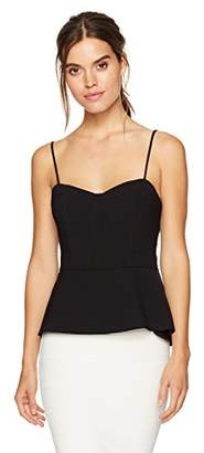 BCBGMAXAZRIA Women's Shannan Woven Bustier Top with Flyaway Back