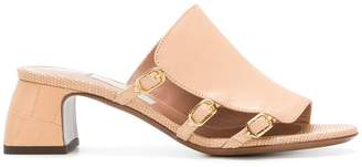L'Autre Chose side buckle mules