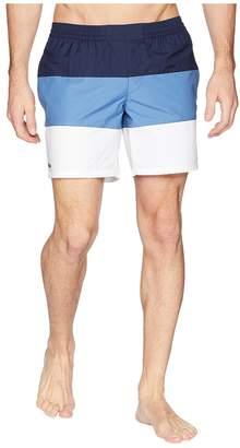 Lacoste Nylon Color Block Mid Length Men's Swimwear