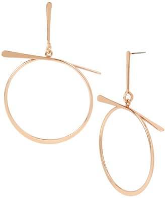 BCBGeneration Rose-Goldtone Sculptural Twist Hoop Earrings
