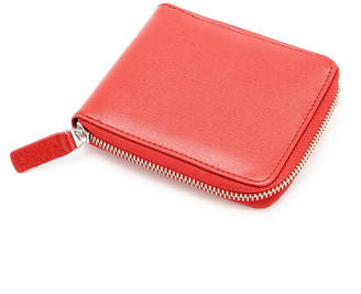 Royce Leather Royce Rfid Blocking Zip Around Wallet in Genuine Saffiano Leather
