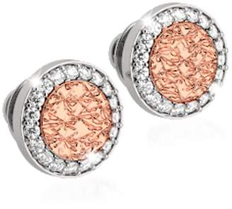 Rebecca R-ZERO Rose Gold Over Bronze Stud Earrings
