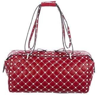Valentino 2018 Free Rockstud Spike Duffel Bag