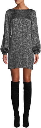 Equipment Zipporah Animal-Print Shift Dress