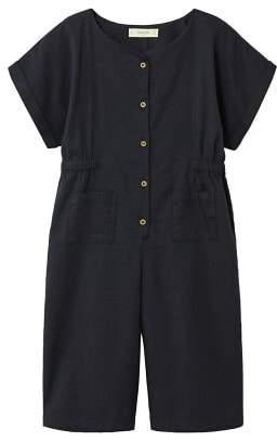 MANGO Buttoned capri jumpsuit