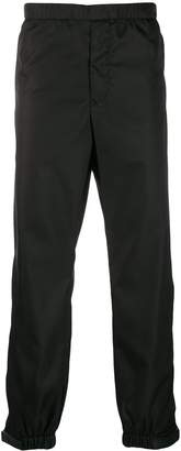 Prada elasticated waist strap trousers