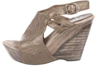 Calleen Cordero Leather Platform Wedges