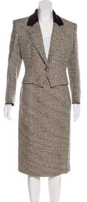 Gucci Plaid Wool Skirt Suit