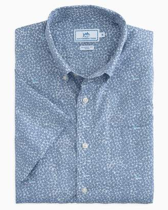 Southern Tide Dover Beach Short Sleeve Button Up Shirt