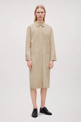 Cos GATHERED WOOL SHIRT DRESS