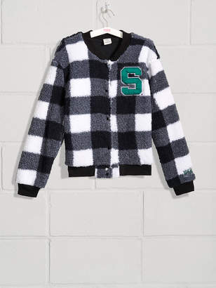 PINK Michigan State University Sherpa Letter Jacket