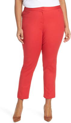 Vince Camuto Stretch Cotton Blend Ankle Trousers