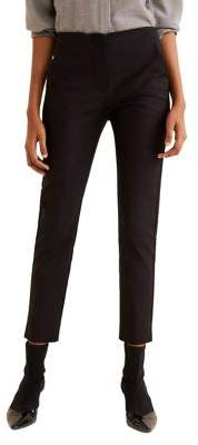 MANGO Straight Cropped Suit Trousers