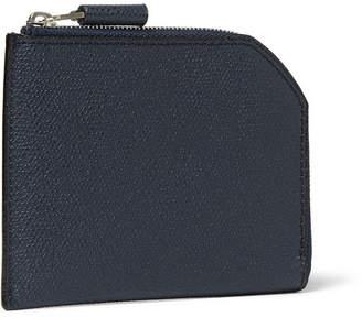 Valextra Zip-Around Pebble-Grain Leather Wallet