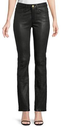 Frame Le Mini Boot-Cut Leather Pants