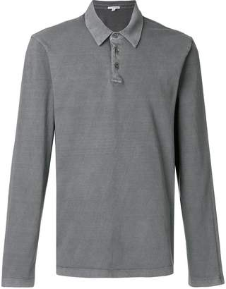 James Perse long sleeve polo shirt