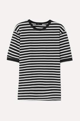 Bassike Striped Organic Cotton-jersey T-shirt - Black