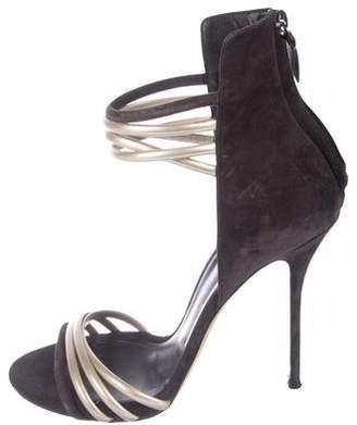 Casadei Embellished Ankle Strap Sandals