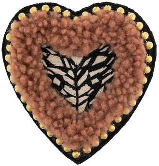 Yves Salomon Meteo embellished heart brooch