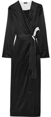 La Perla Talisman Stretch Silk-Satin Robe