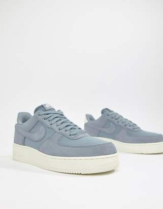 Nike Force 1 '07 Suede Sneakers In Blue AO3835-400