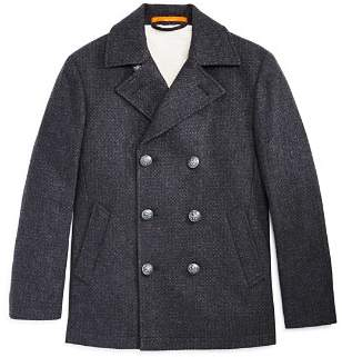 Tallia Boys' Faux-Shearling-Lined Peacoat - Big Kid
