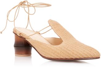 Marcela B. Bamboo Heel Raffia Sandal $545 thestylecure.com
