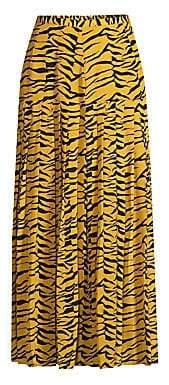 Rixo Rixo Women's Tina Drop Waist Tiger Print Maxi Skirt