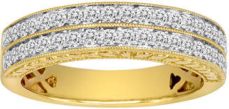 JCPenney MODERN BRIDE 1/2 CT. T.W. Certified Diamond 14K Yellow Gold Vintage-Style Wedding Band