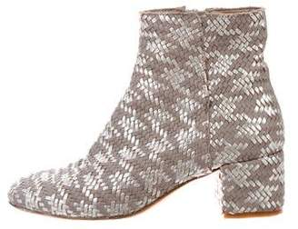 AGL Basketweave Leather Boots