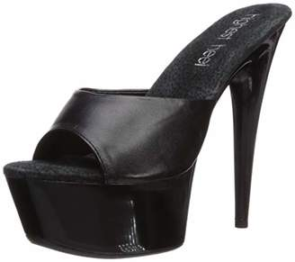 The Highest Heel Women's Amber 851 Peep Toe Mule with Solid Platform