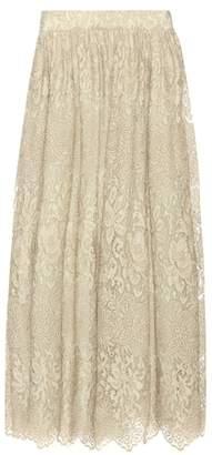 Valentino Metallic lace skirt