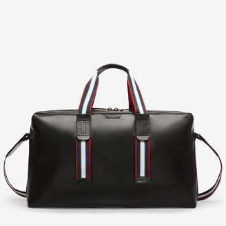 Bally Messier Black, Men's calf leather weekend bag in black