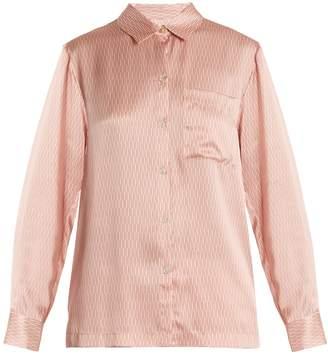 ASCENO Matchstick-print silk-satin pyjama set