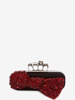 Alexander McQueen Skull Four-Ring Box Clutch