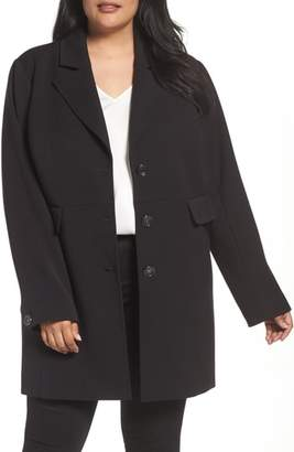 Kenneth Cole New York Single Breasted Ponte Coat