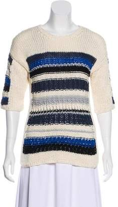 Yigal Azrouel Striped Scoop Neck Sweater