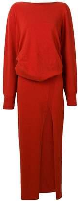 Jacquemus front-slit maxi dress