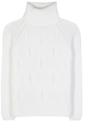 Loro Piana Christmas Tree Turtleneck Cashmere Sweater